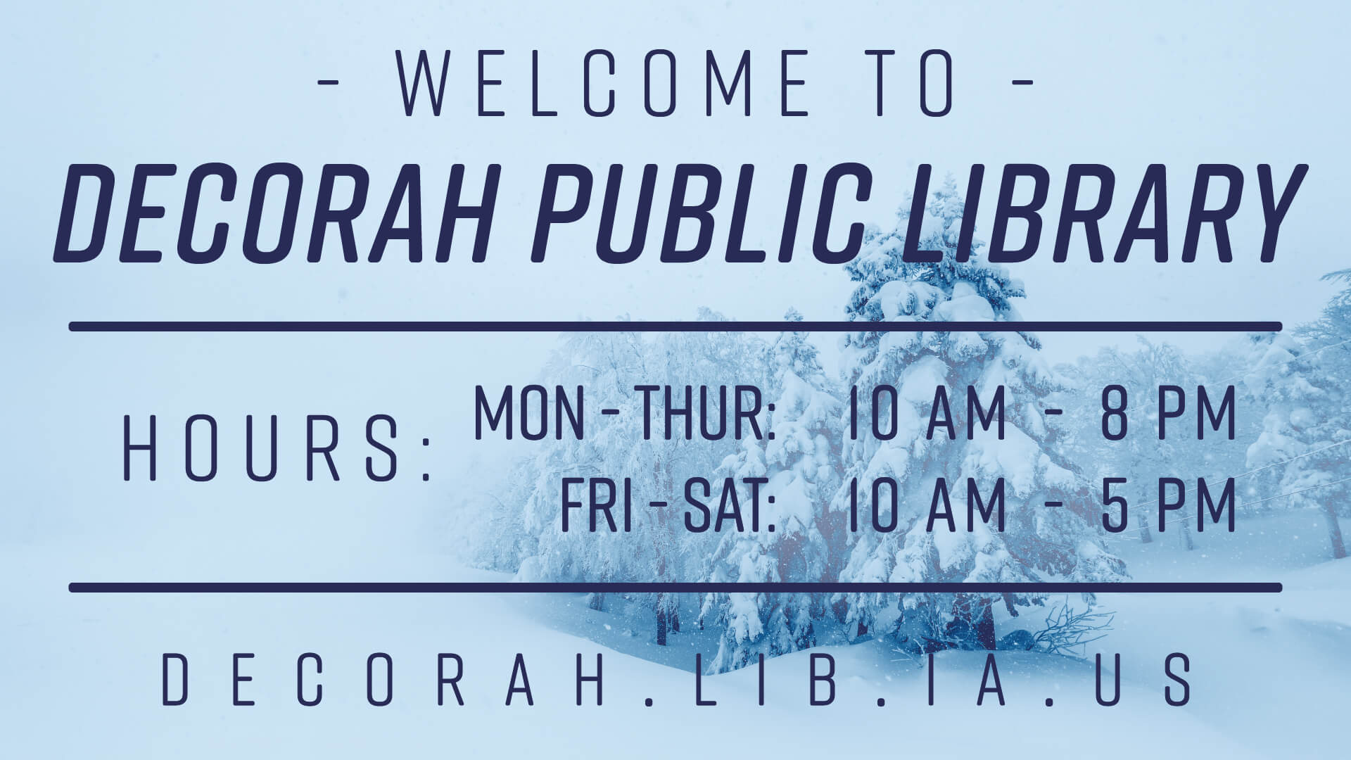 Library Hours Poster