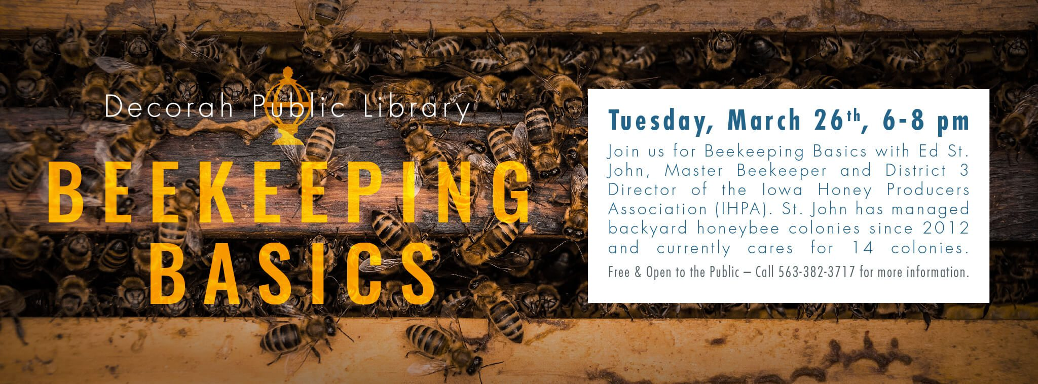 Beekeeping Basics March 26th