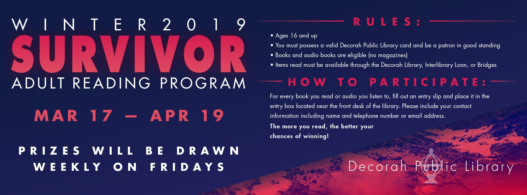 Winter 2019 Survivor Adult Reading Program