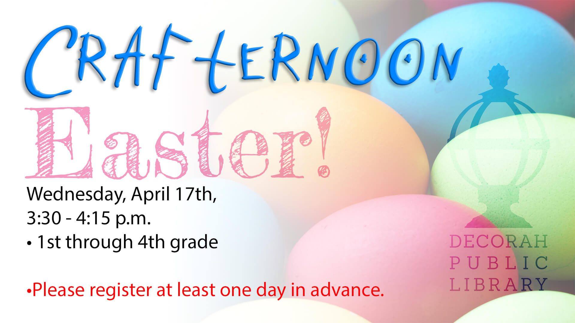 Crafternoon Easter April 17