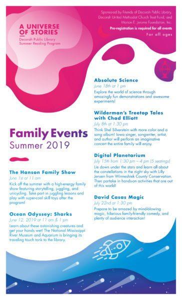Summer Reading Program 2019 Family Events