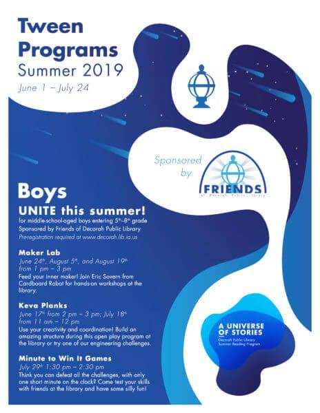 Summer Reading Program 2019 Tween Boys Programs