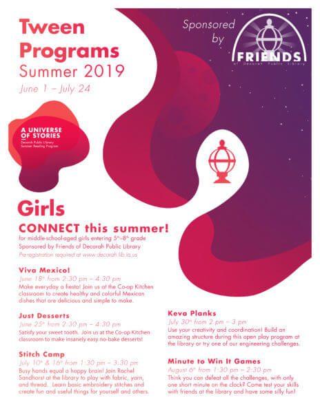 Summer Reading Programs 2019 Tween Girls