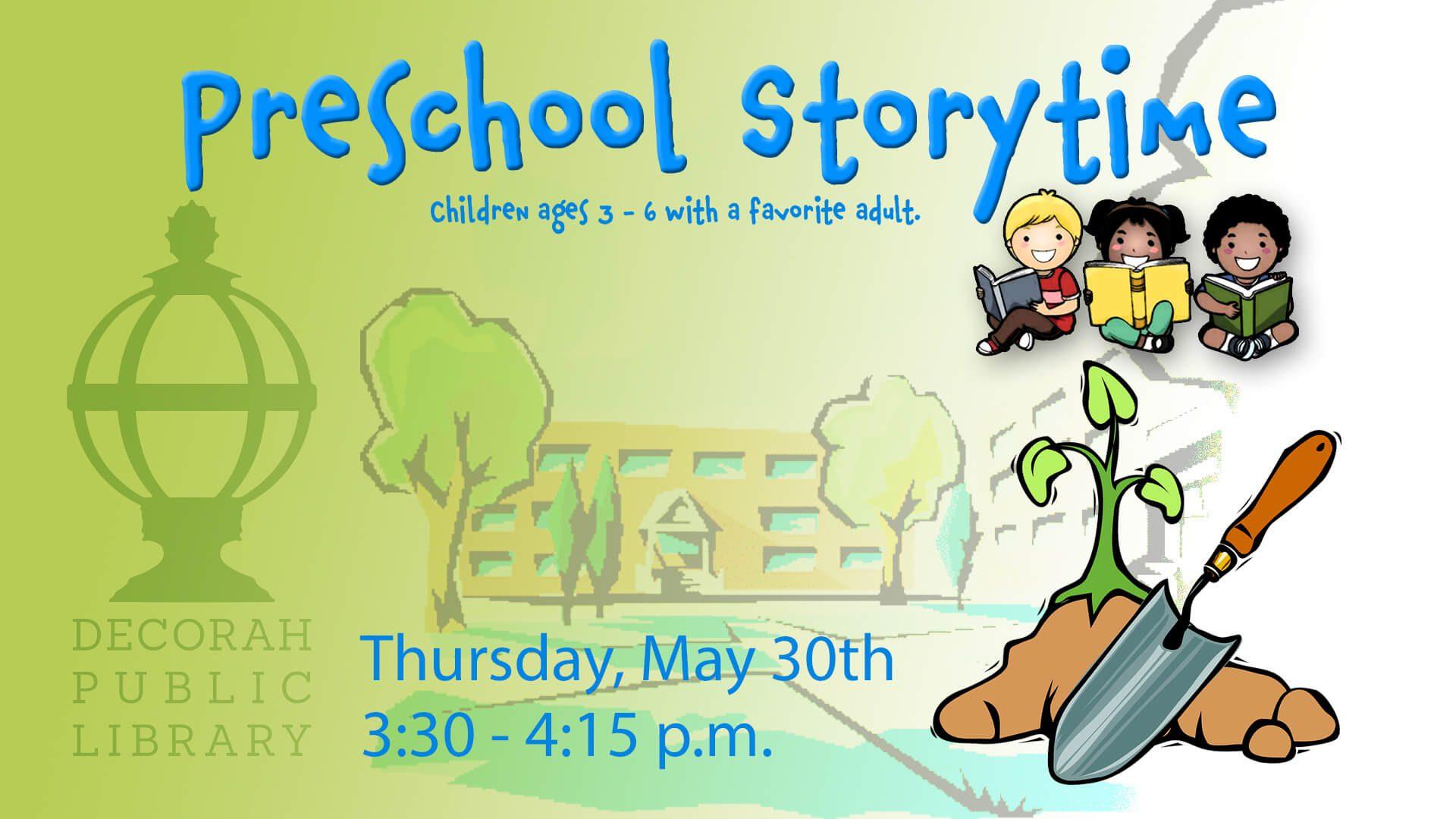 Preschool Storytime May 30