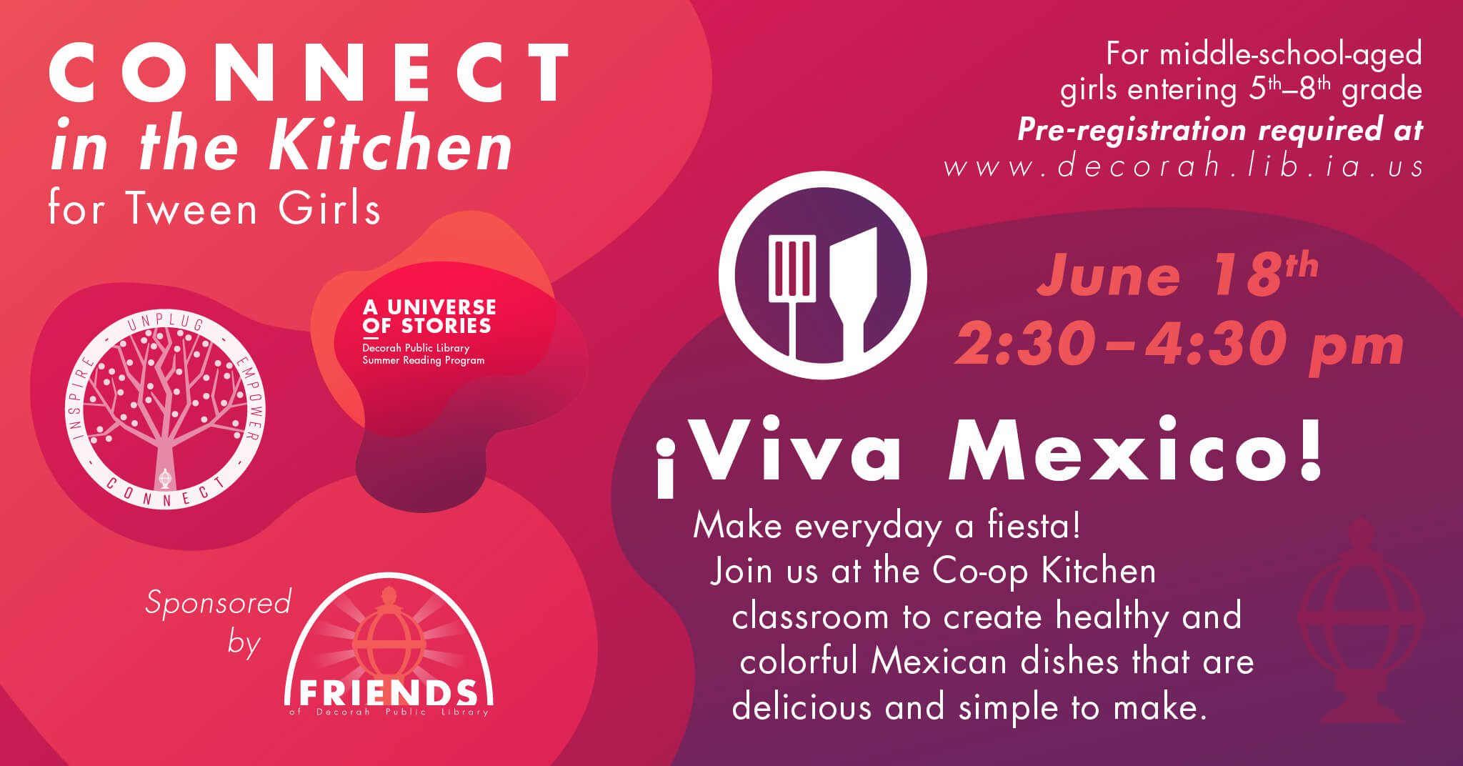 Connect in the kitchen for tween girls june 18