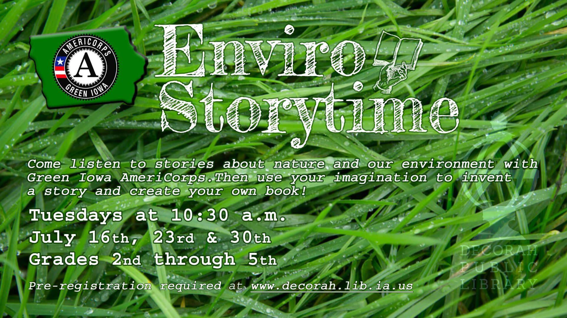 Enviro Storytime July 16 23 30