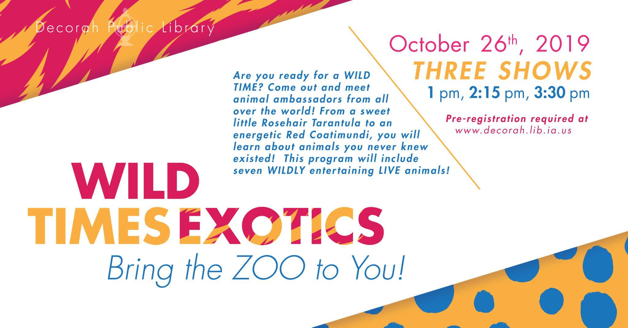 Wild Times Exotics Oct 26th