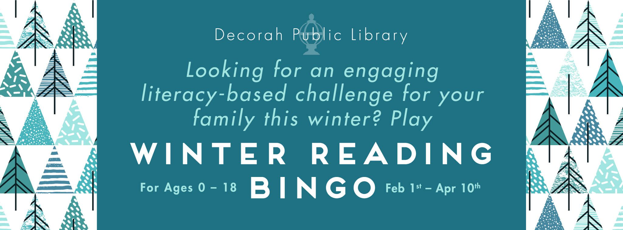 Winter Bingo Reading Decorah Publicv Library