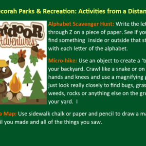 Park Rec Activities From A Distance March 23rd