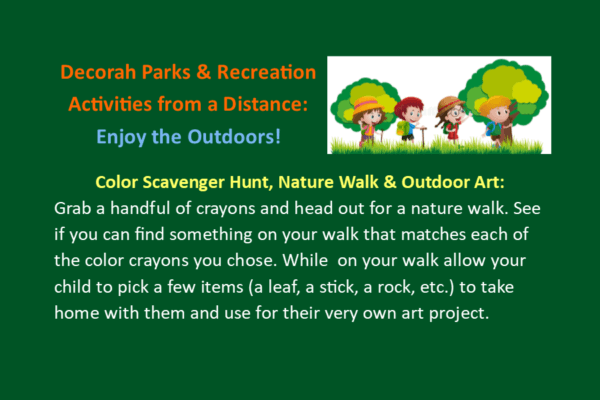 Park Rec Activities from A Distance March 31