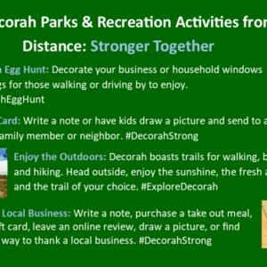 Park Rec Activities from a Distance April 9