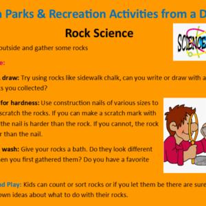 Park Rec Activities from a Distance April 15