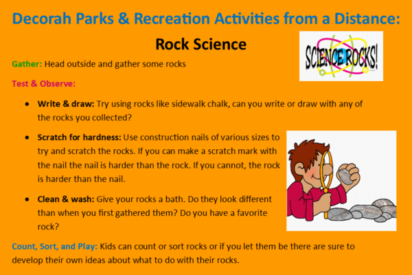 Park Rec Activities from a Distance April 15