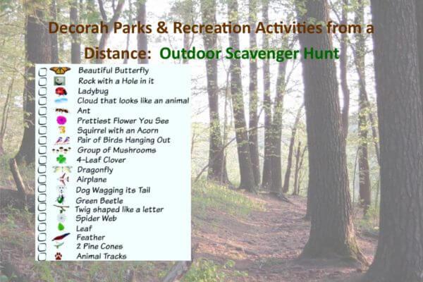 Park Rec Activities from a Distance April 16