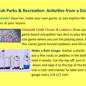 Park Rec April 2 Public Access