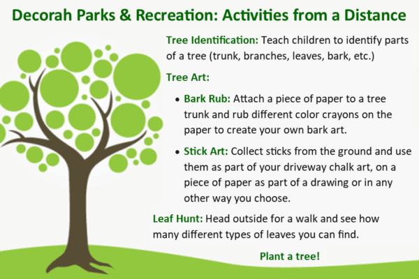Park Rec Activities from a distance april 24