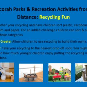 Park Rec Activities from a Distance April 8