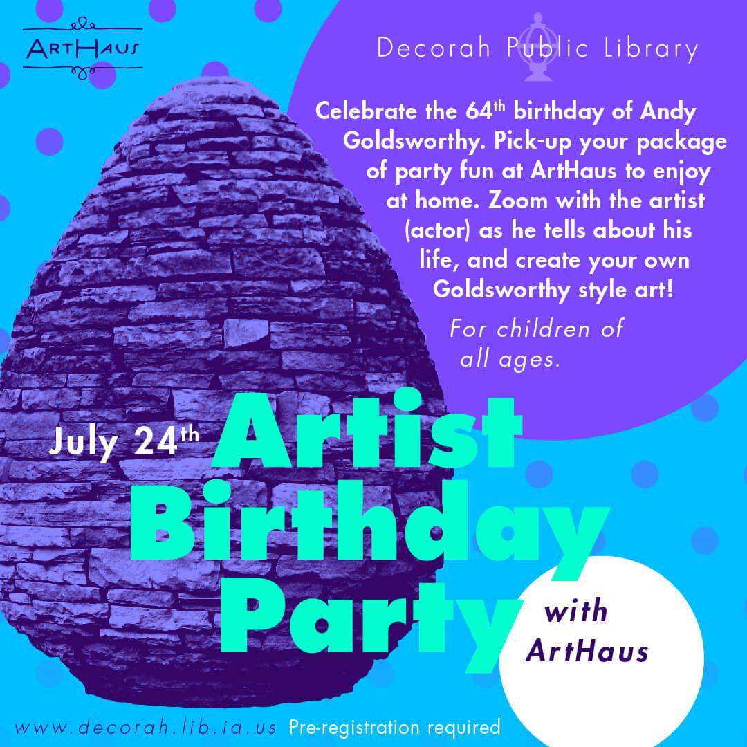 Artist Birthday Party Andy Goldsworthy