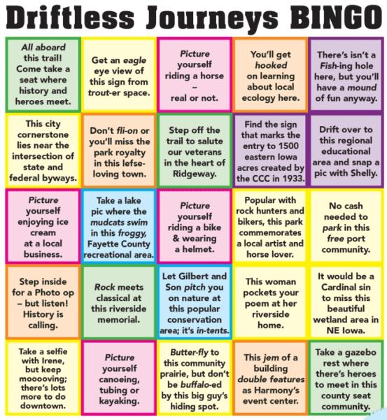 Driftless Bingo