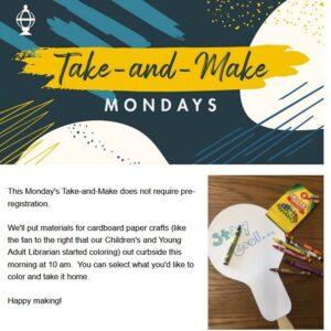 Take-and-Make Monday