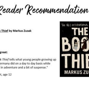 """Reader Recommendation """"The Book Thief"""""""