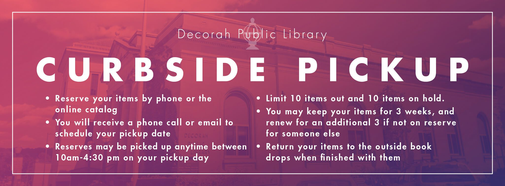 Curbside Pickup Information