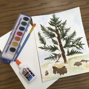 12/21: Take-and-Make Monday: Winter Tree Art