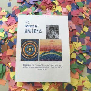 Alma Thomas inspired art