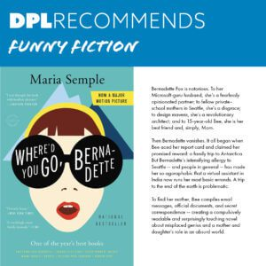 DPL Recommends - Funny Fiction