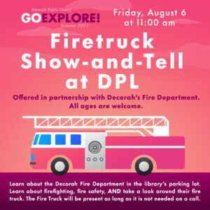 Firetruck Show-and-Tell at DPL