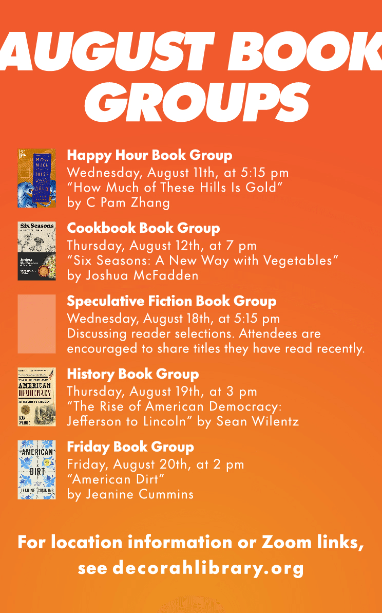 August book groups image link
