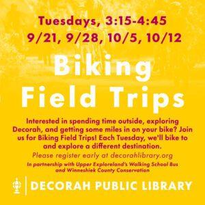 Biking Field Trips Decorative