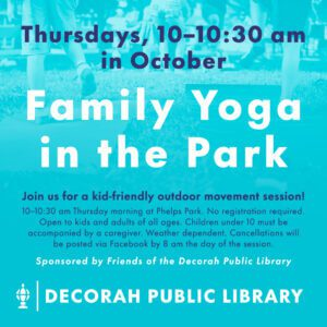 Family Yoga in the Park October