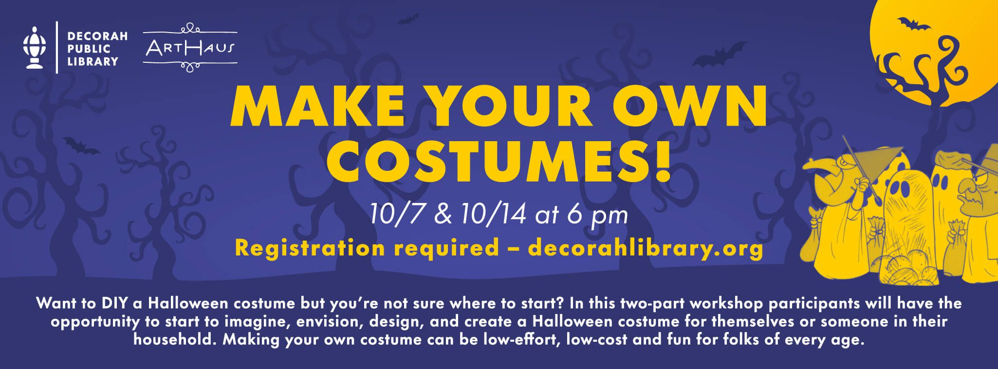 10/7 & 10/14: (both sessions) Make Your Own Costumes! decorative image