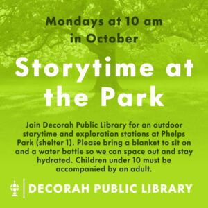Storytime in the Park October