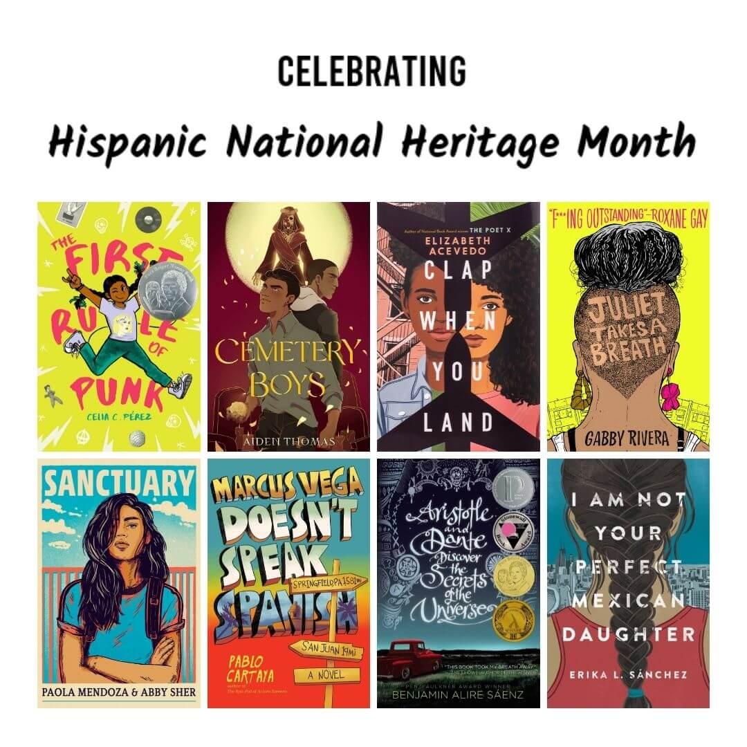 National Hispanic Heritage Month Book Recomendation Decorative Image
