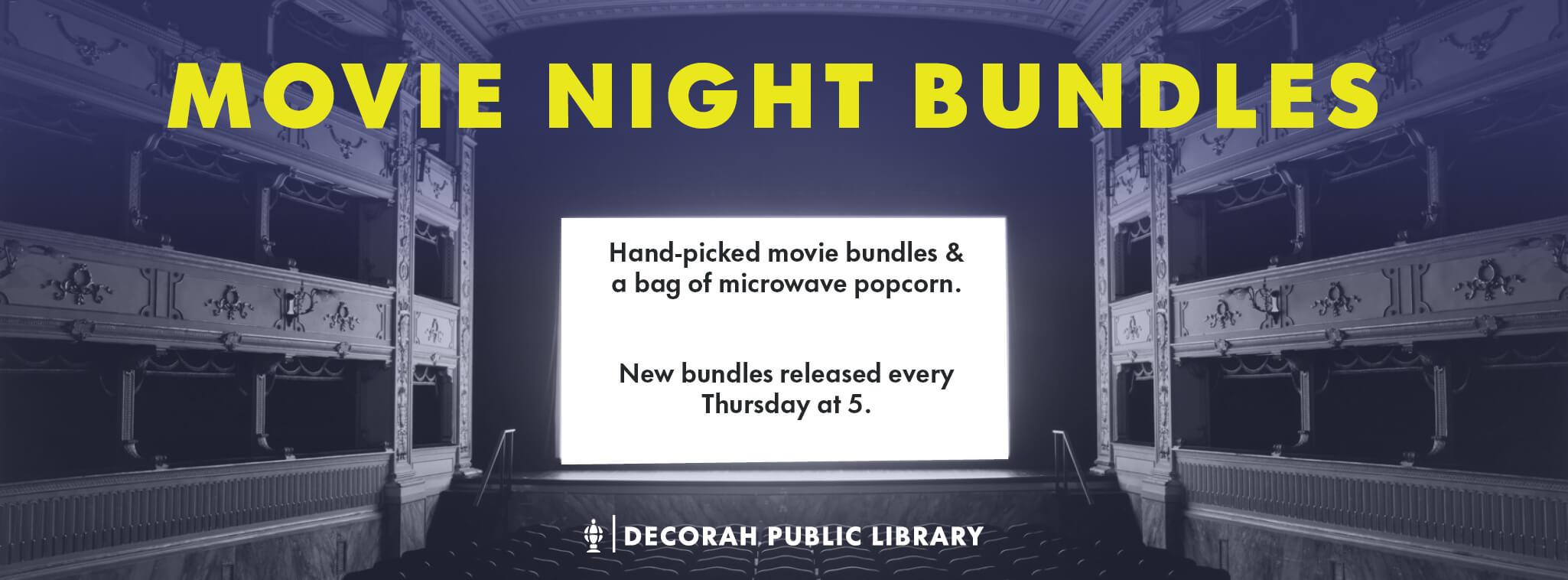 Movie Night Bundles Banner Decorative Image