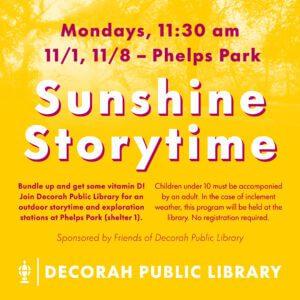Sunshine Storytime graphic