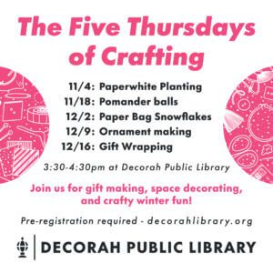 The Five Thursdays of Crafting